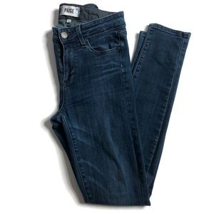Paige Hoxton Ultra Skinny Jeans Dark Blue